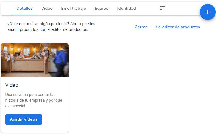 Añadir imágenes y vídeos en Google My Business