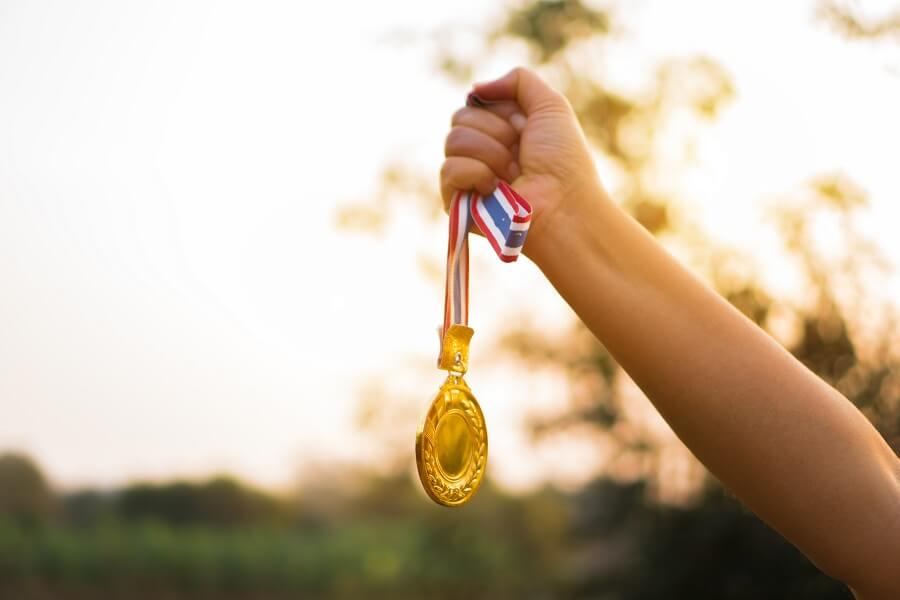 Medalla de gamificación