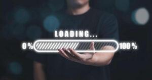 Web cargando con velocidad